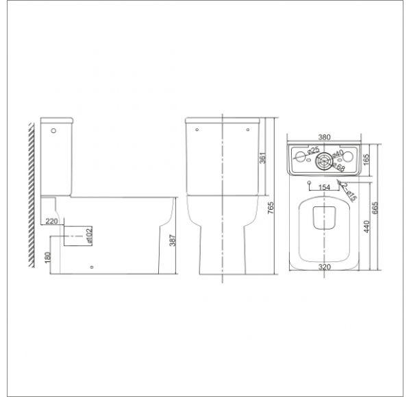 VERONA унитаз-компакт с крышкой Soft-close