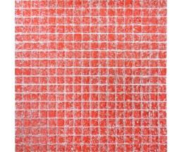 мозаика стеклянная 444 моно красная колотая 300*300 мм