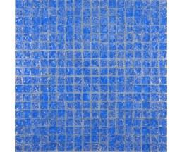 мозаика стеклянная 446 моно голубая колотая 300*300 мм
