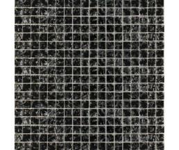 мозаика стеклянная 448 моно черная колотая 300*300 мм