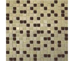 2027 микс мрамор бежевый-коричневый-молочный 300*300