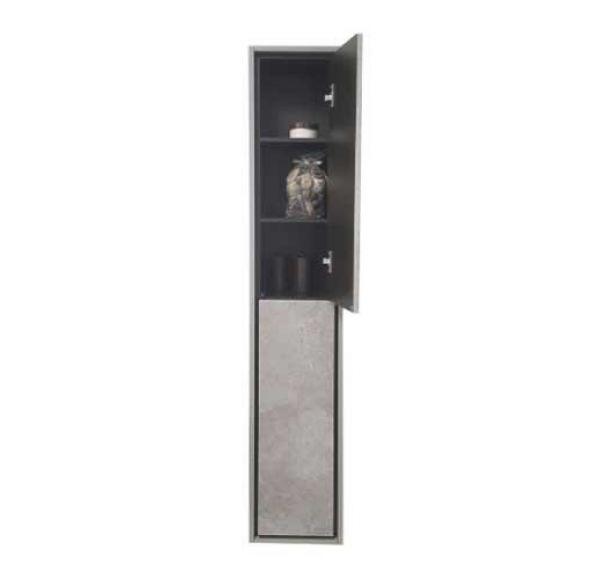 Уэльс шкаф-колонна тем.шоколад/Авеллино грей 1A208103WAC30