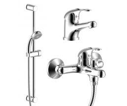 """SET35-80 Набор смесителей """"3 в 1"""" (для ванны + для умывальника + душ.гарнитур), хром SET35-80"""