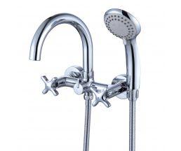 RS39-83 Смеситель двуручный для ванны с поворотным изливом 165мм, дивертор с керамическими пластинам