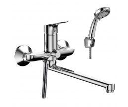 RS29-33 Смеситель одноручный (35мм)  для ванны с плоским изливом 350мм, хром