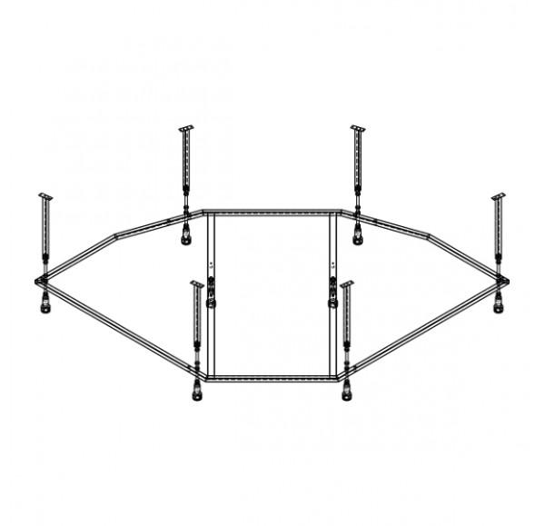 Каркас сварной + установочный комплект   150*150 Эльбрус MIRSANT