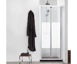 Душевые ограждения Vega 90 (дверь сдвижная) с матовой полосой