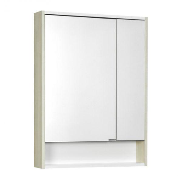 Рико 65 зеркальный шкаф Белый/ясень фабрик 1A215202RIB90