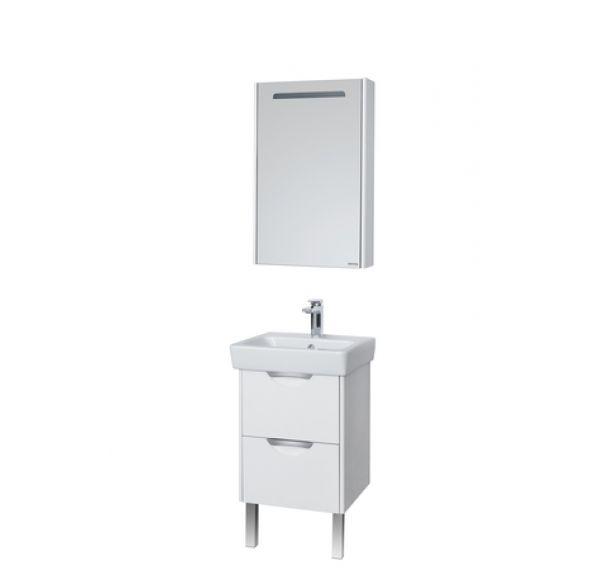 Сильва 50 зеркало-шкаф дуб полярный 1A215502SIW7L