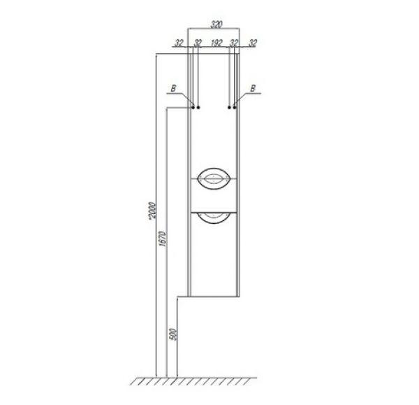 Сильва шкаф-колонны правый дуб макиато1A215603SIW5R