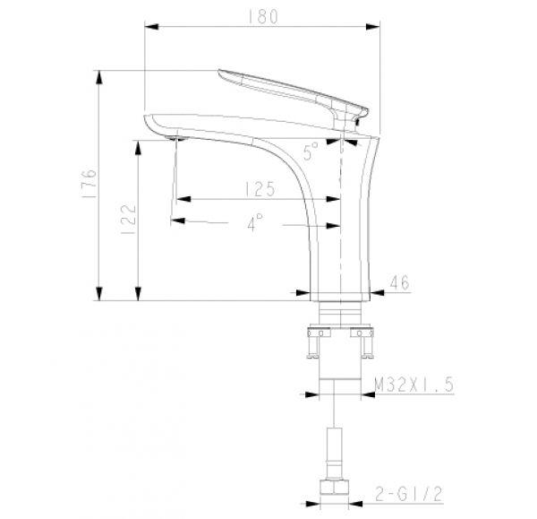 LM6806C BELLARIO Смеситель для умывальника монолитный, хром