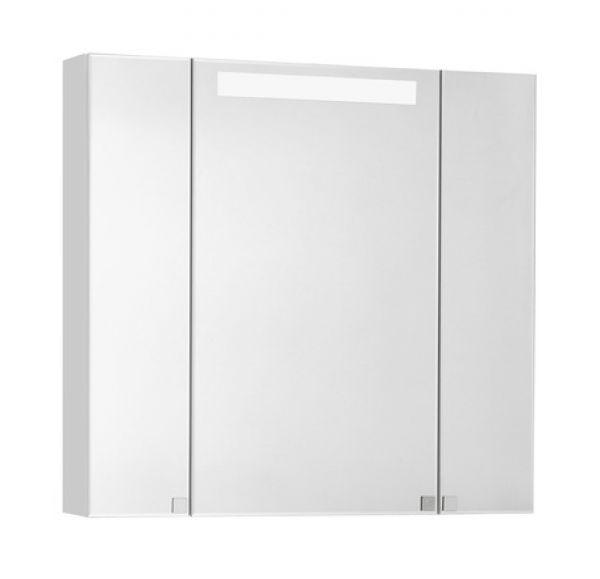Мадрид 80 М Шкаф-зеркало со светильником белый 1A175202MA010