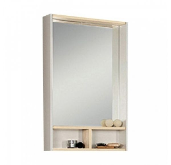 Йорк 55 зеркало-шкаф 1A173202YOAV0 белый/ясень фабрик