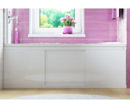 Экран под ванну 1,7м МДФ купе Crystal белый