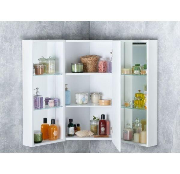 Кантара зеркальный шкаф центральный Дуб Полярный 1A205702ANW70