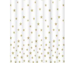 """C2018T015 Штора для ванной комнаты """"Golden sparks"""" 200x180 см, 100% полиэстер, с утяжелителем"""