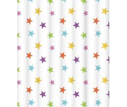 "C2018T018 Штора для ванной комнаты ""Bright stars"" 200x180 см, 100% полиэстер, с утяжелителем"