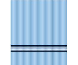 """C2018T022 Штора для ванной комнаты """"Sea waves"""" 200x180 см, 100% полиэстер, с утяжелителем"""