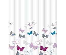 """C2018T043 Штора для ванной комнаты """"Butterfly champagne"""" 200x180 см, 100% полиэстер, с утяжелителем"""