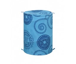 "B4255T028 Корзина для ванной комнаты ""Infinite blue"" 42*55 см, 100% полиэстер, водонепроницаемая"