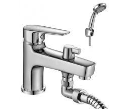 S35-38 Смеситель одноручный (35 мм) на борт ванны, с коротким изливом, хром