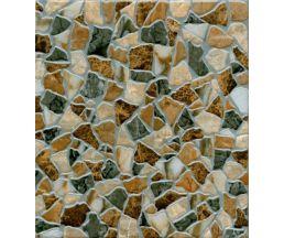 """Кёльн """"Камни"""" Объёмный штамп коричневый керамогранит 33*33 (729862)"""