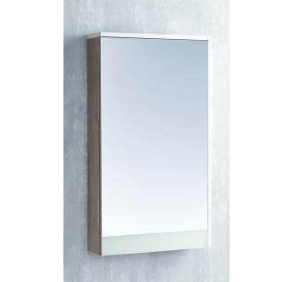 Эмма зеркальный шкаф Белый/Дуб Навара 1A221802EAD80
