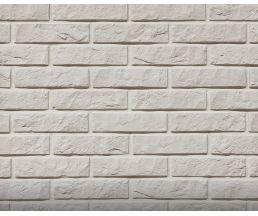 Дикий кирпич Белый 210х54х6 Декоративный камень Гипс для внутренней отделки