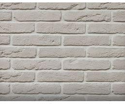 Старый кирпич Белый 280х63х10 Декоративный камень Гипс для внутренней отделки