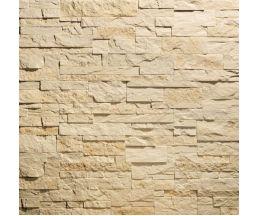 Сланец карпатский Бежевый 280х63х10 Декоративный камень Гипс для внутренней отделки