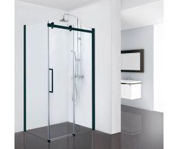 Душевые ограждения Open 900*1200*1900 (стекло подв. + стекло неподв.) Black Profile