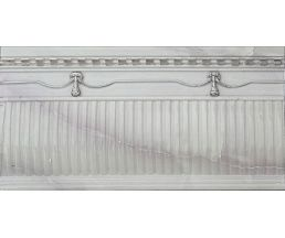 NC Royal Alzata Ornato Silver Бордюр настенный рельефный 15,6x30