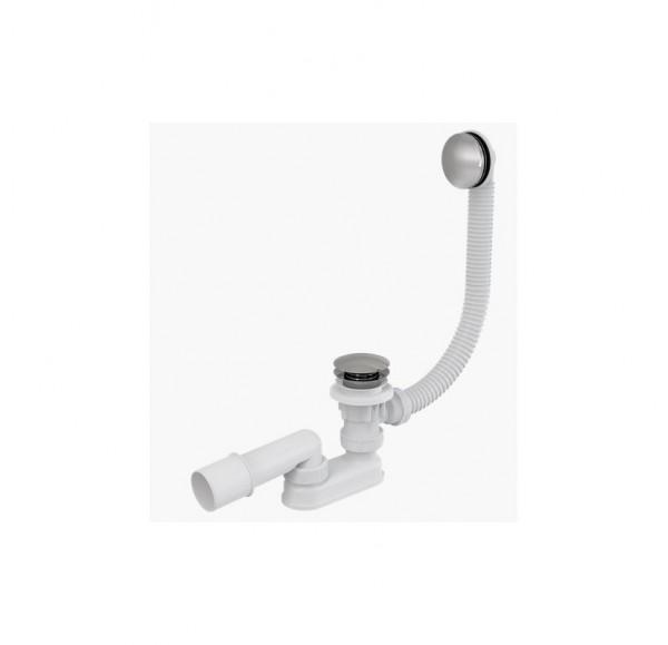 A504KM Alcaplast  Сифон для ванной click-clak металл