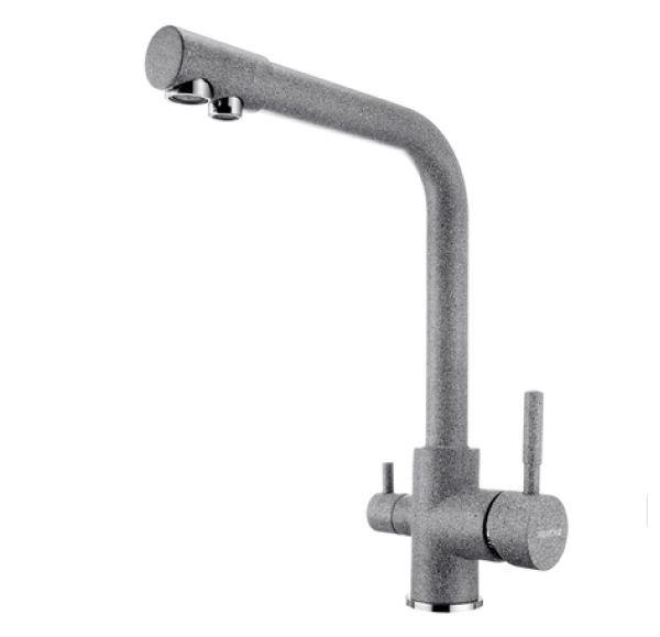 РУАН Смеситель для кухни фильтр серый 1AX004FCXX230