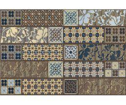 Камлот Мокка Эйша Декор комбинированный Коричневый 405х278