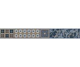 Камлот Индиго Эйша Бордюр комбинированный Синий 405х50