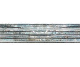 Aqua Str Turquoise Плитка настенная многоцветная структурная 120*30