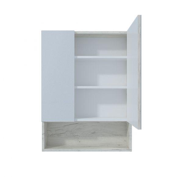 Мальта 60 зеркало-шкаф дуб белый