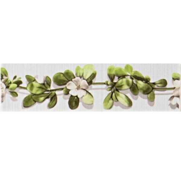 13999 Vitel Liana плитка фриз настенный зеленая 27,5*7