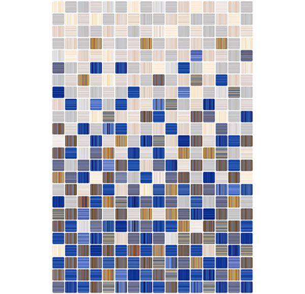Гламур 2С Плитка настенная голубая Микс глянцевая 400х275