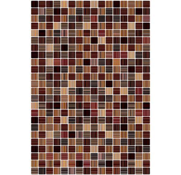 Гламур 3Т Плитка настенная  коричневая глянцевая 400х275