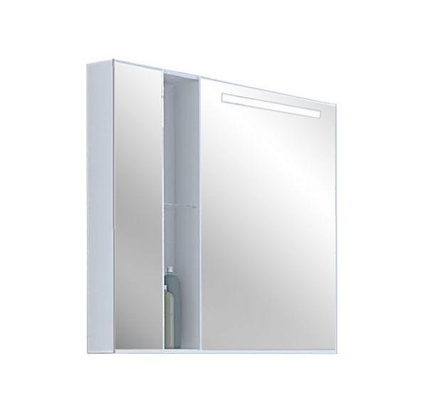 Марко 80 Шкаф-зеркало со светильником белый 1A181102MO010