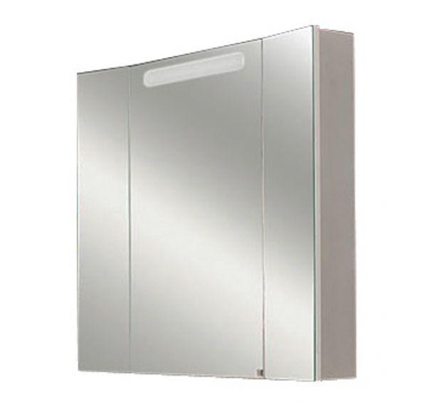 Марко 80 Шкаф-зеркало со светильником белый 1A175202MA010