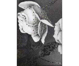 Монро 5Т тип 2 Декор черный матовый (маленькая роза) 400х275