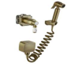 CONCEALED Смеситель встр. 25 мм с набором для гиг. душа ClassicLine, бронза 24C0784-Bronze (Set-49)