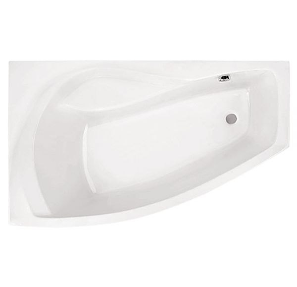 Ванна акриловая асим. белая 160*95 Л Майорка XL SANTEK 1WH111991