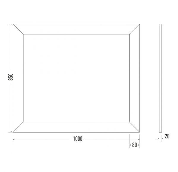 Версаль Premium 105 зеркало белое золото (Ясень)