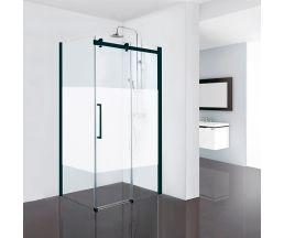 Душевые ограждения Open Black Profile 900*1200*1900 (стекло подв. + стекло неподв.) матовая полоса