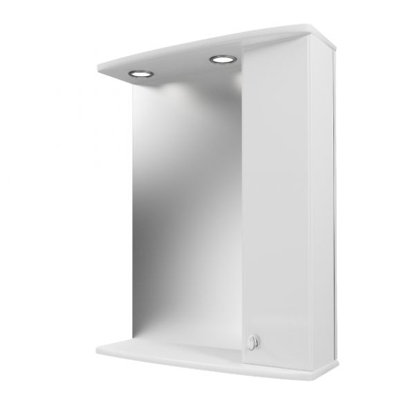 Фарида 16 зеркало-шкаф со светильником 55*70 правый