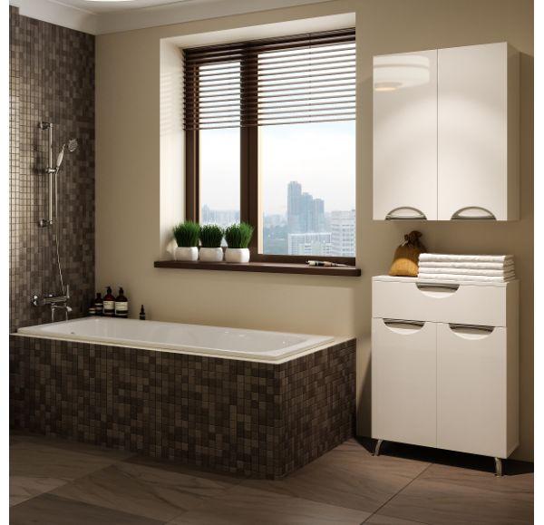 Камилла 60 шкаф-навесной белый (82*60*31)